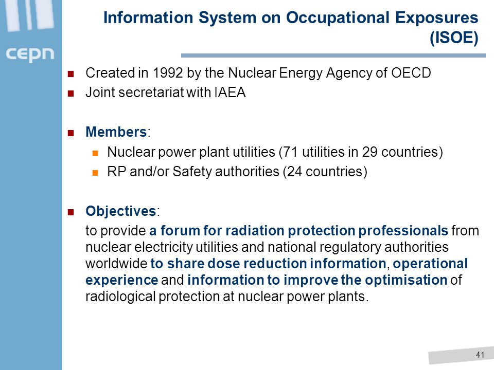 Information System on Occupational Exposures (ISOE)