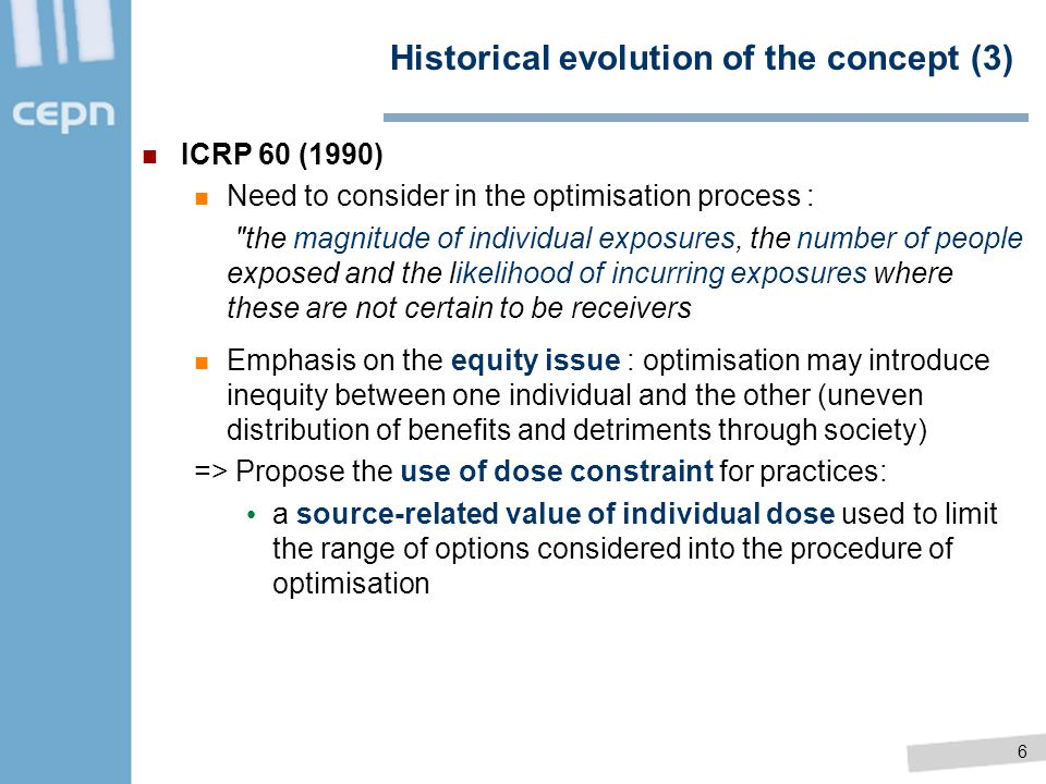 Historical evolution of the concept (3)