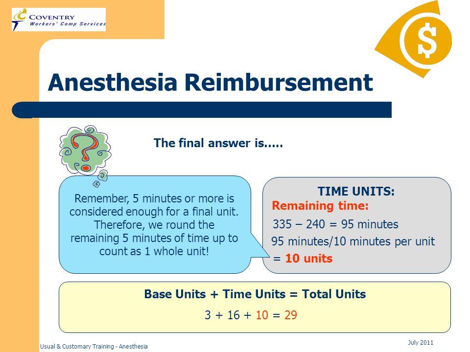 Anesthesia Reimbursement