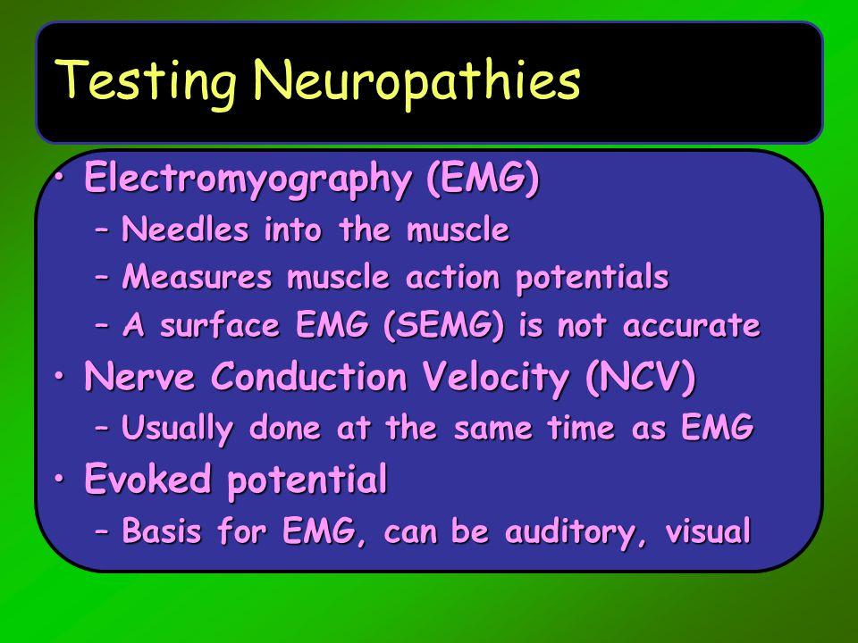 Testing Neuropathies Electromyography (EMG)