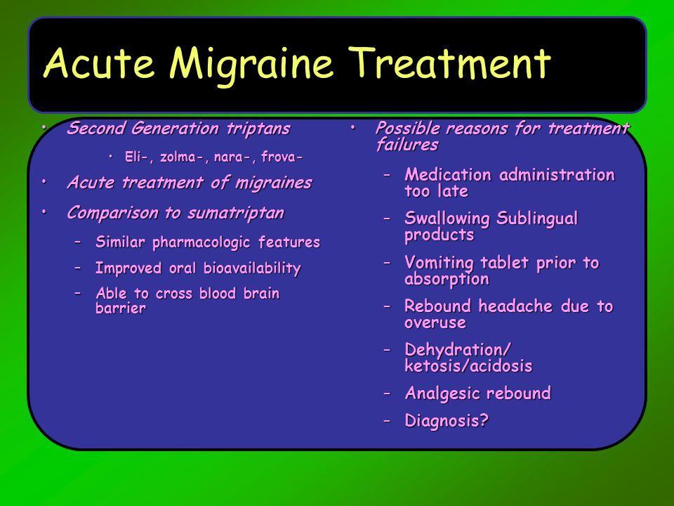Acute Migraine Treatment