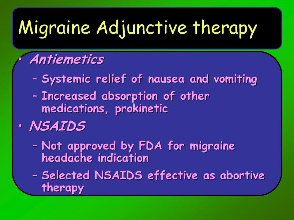 Migraine Adjunctive therapy