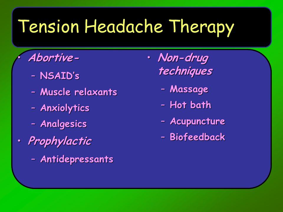 Tension Headache Therapy