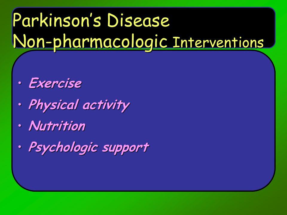 Parkinson's Disease Non-pharmacologic Interventions