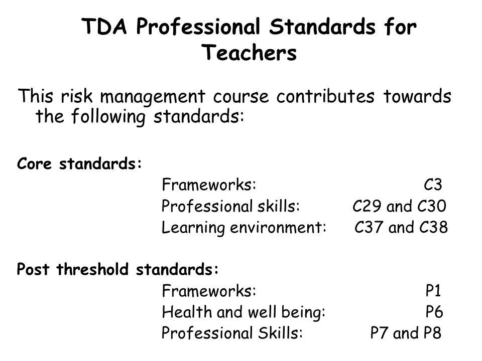 TDA Professional Standards for Teachers