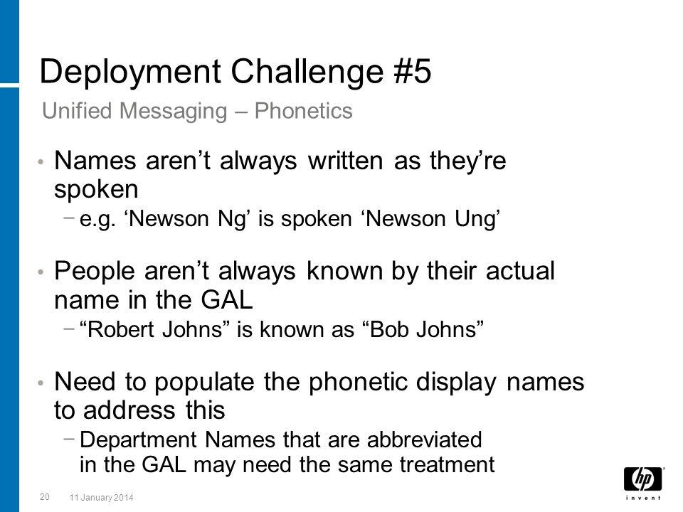 Deployment Challenge #5
