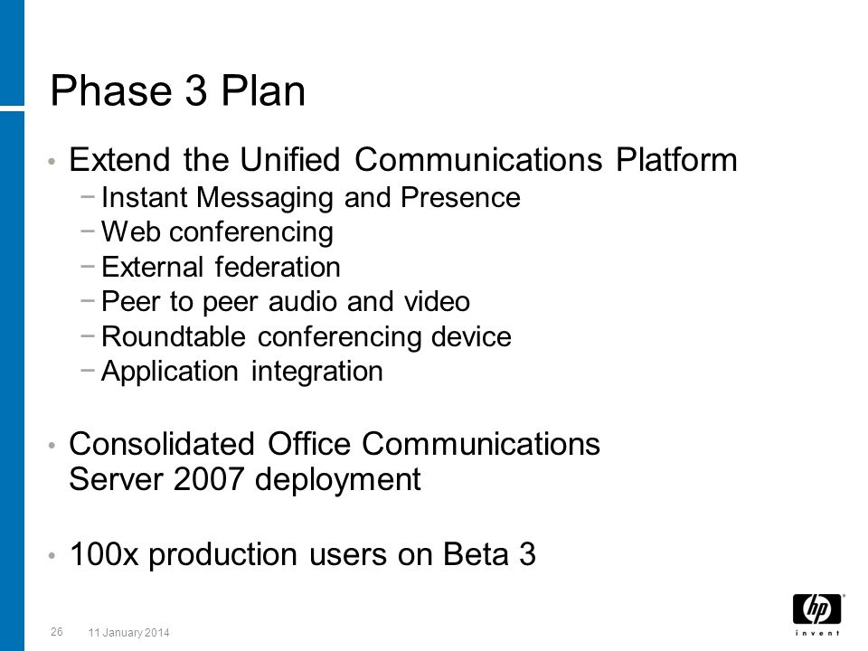Phase 3 Plan Extend the Unified Communications Platform