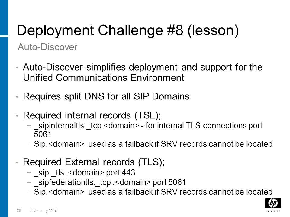 Deployment Challenge #8 (lesson)