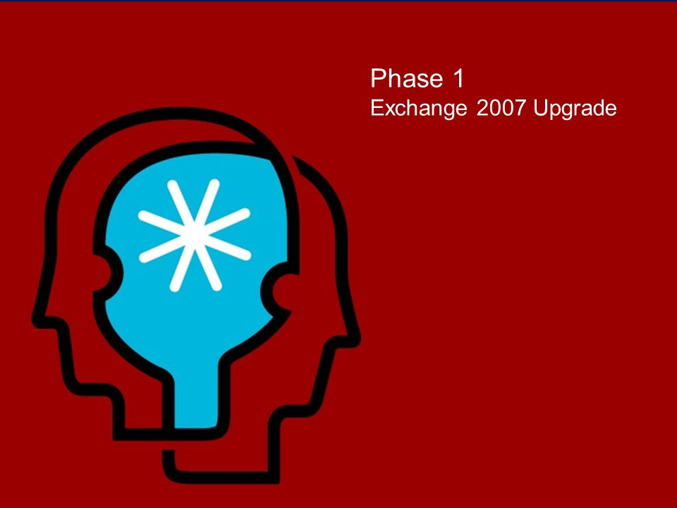 Phase 1 Exchange 2007 Upgrade
