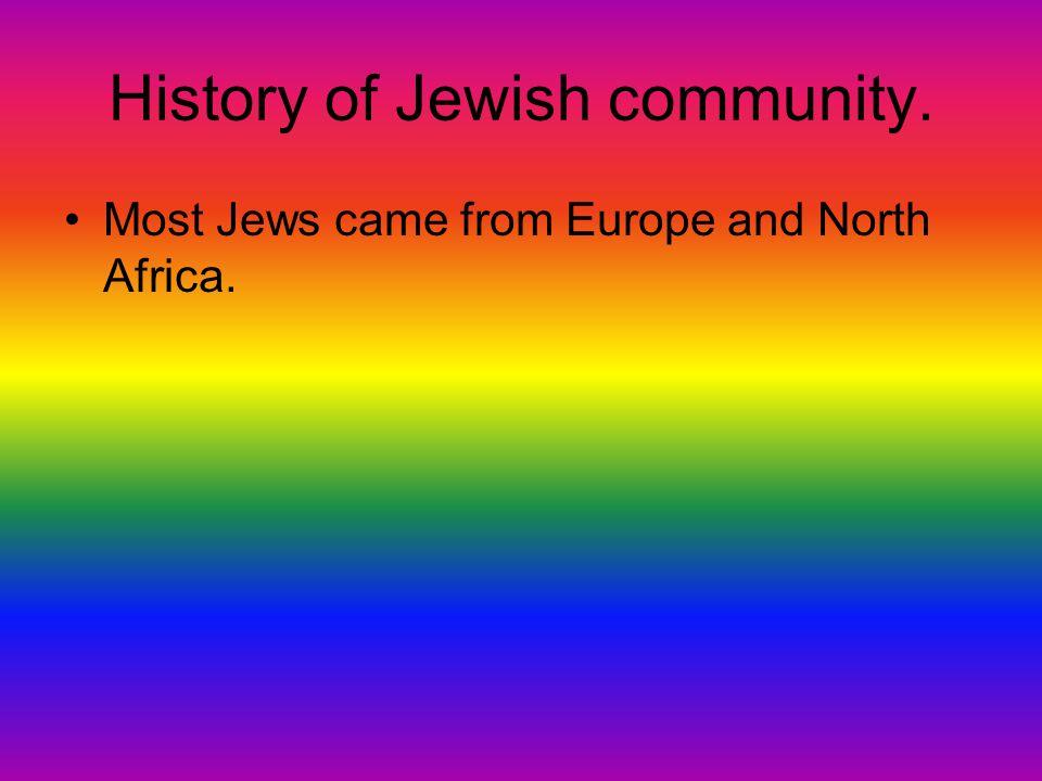 History of Jewish community.