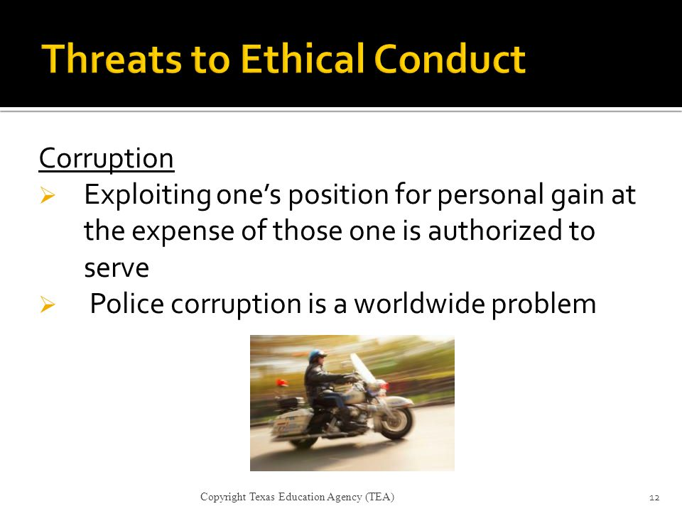 Threats to Ethical Conduct