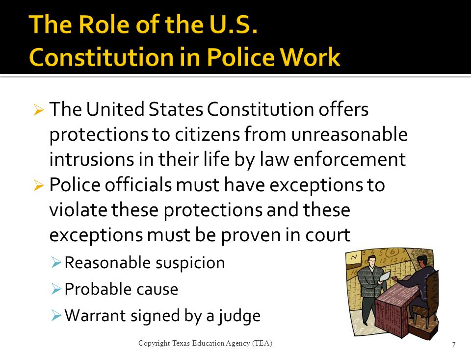 The Role of the U.S. Constitution in Police Work