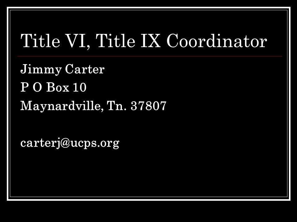 Title VI, Title IX Coordinator