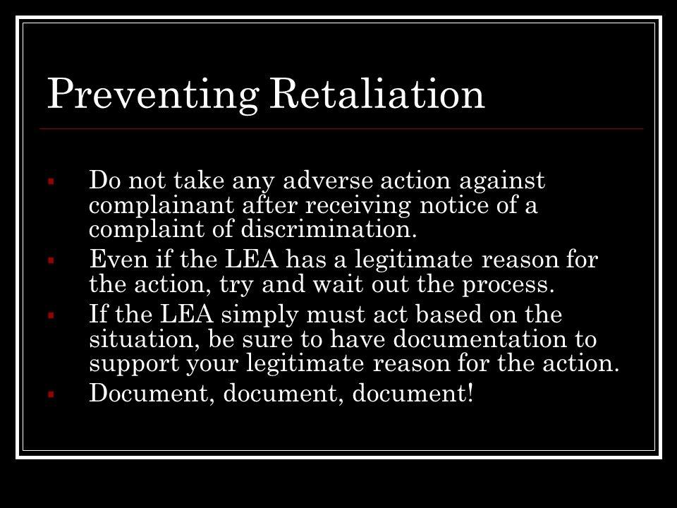 Preventing Retaliation