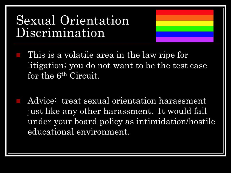 sexual orientation in the workplace Read through hrc's helpful list of terminology and definitions related to sexual orientation and gender identity.