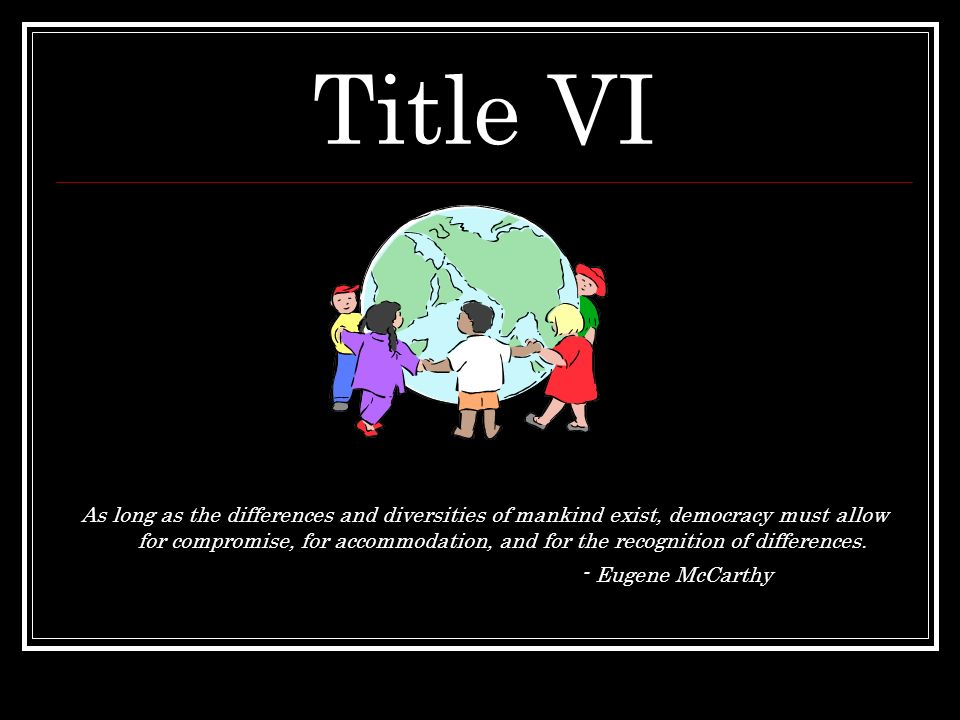 Title VI - Eugene McCarthy