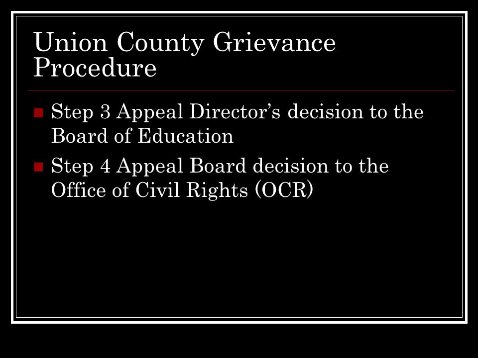 Union County Grievance Procedure