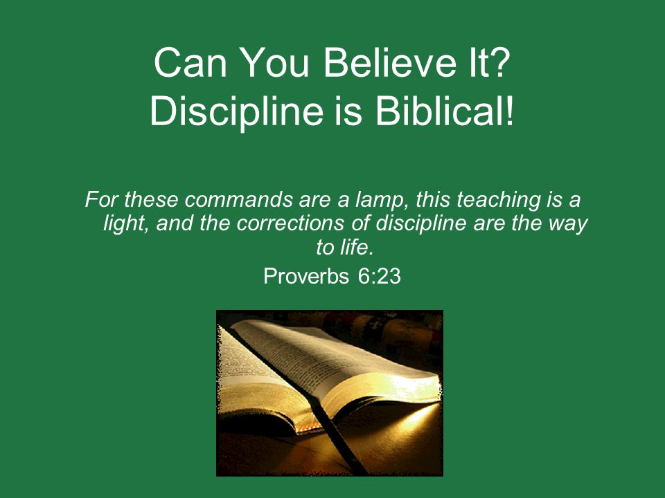 Can You Believe It Discipline is Biblical!