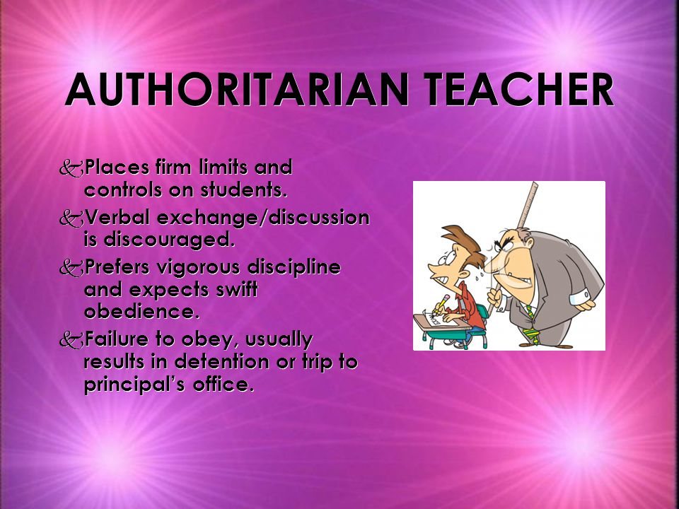AUTHORITARIAN TEACHER