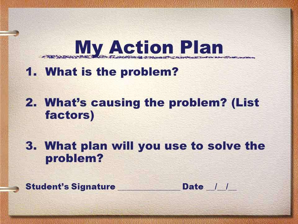 My Action Plan What is the problem