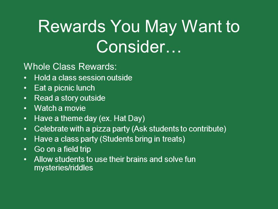 Rewards You May Want to Consider…