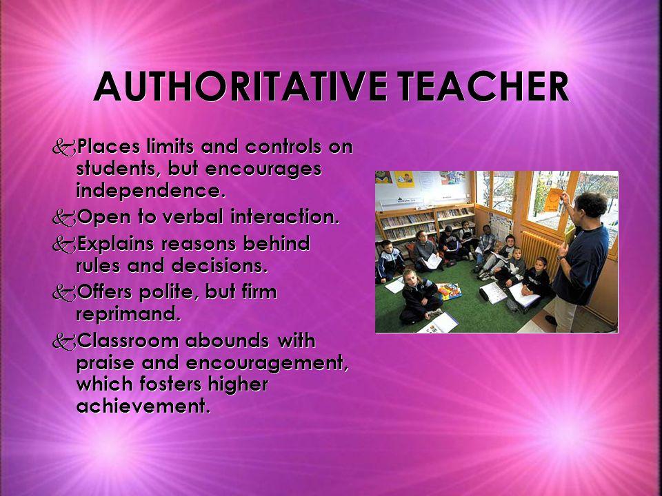 AUTHORITATIVE TEACHER