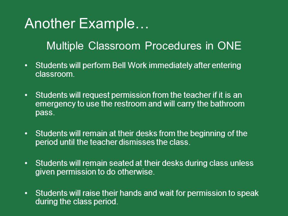 Multiple Classroom Procedures in ONE