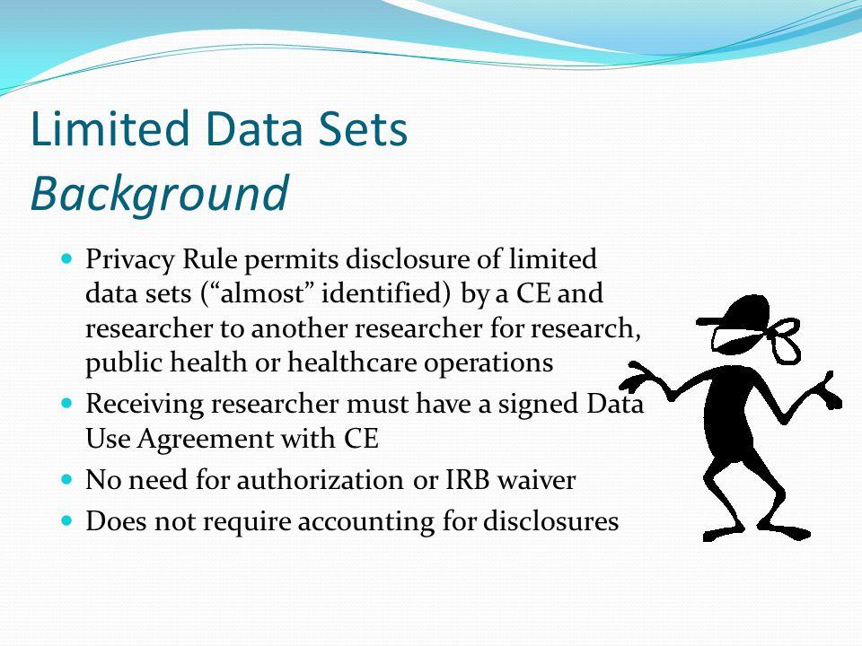 Limited Data Sets Background