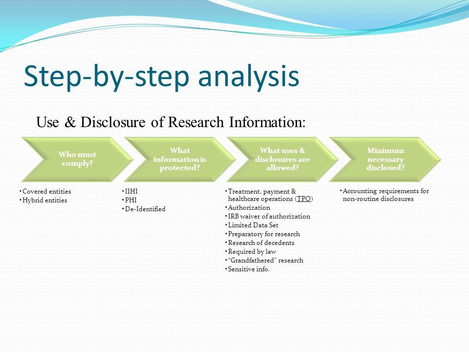 Step-by-step analysis