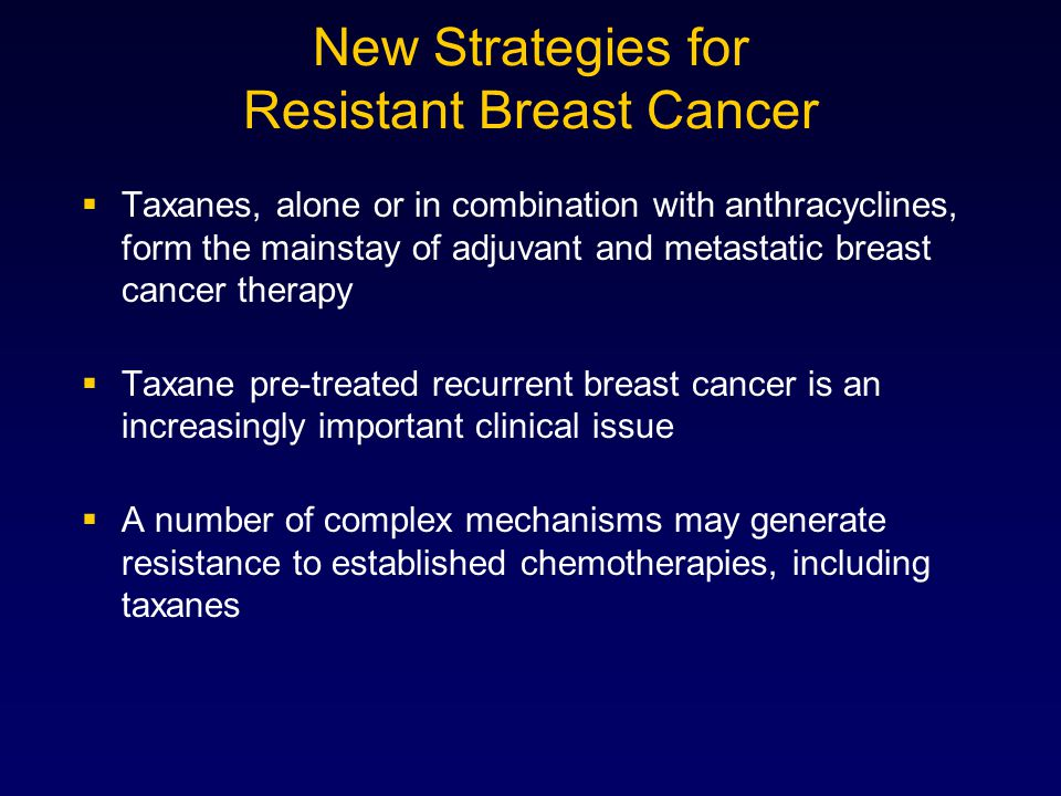 New Strategies for Resistant Breast Cancer