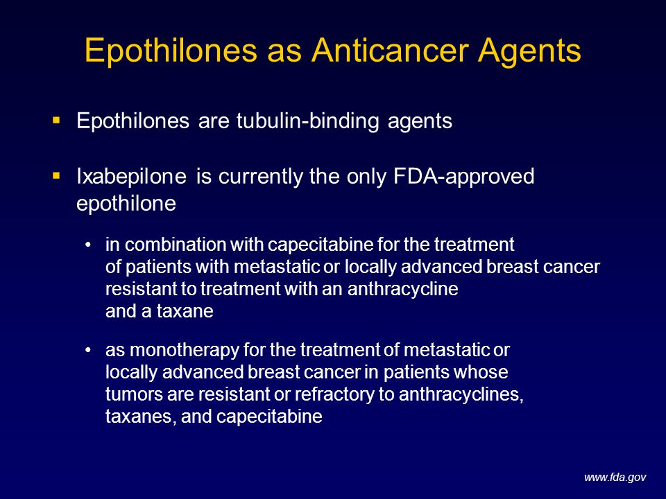 Epothilones as Anticancer Agents
