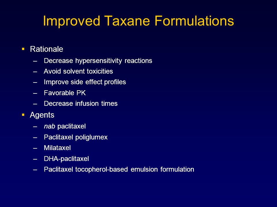Improved Taxane Formulations
