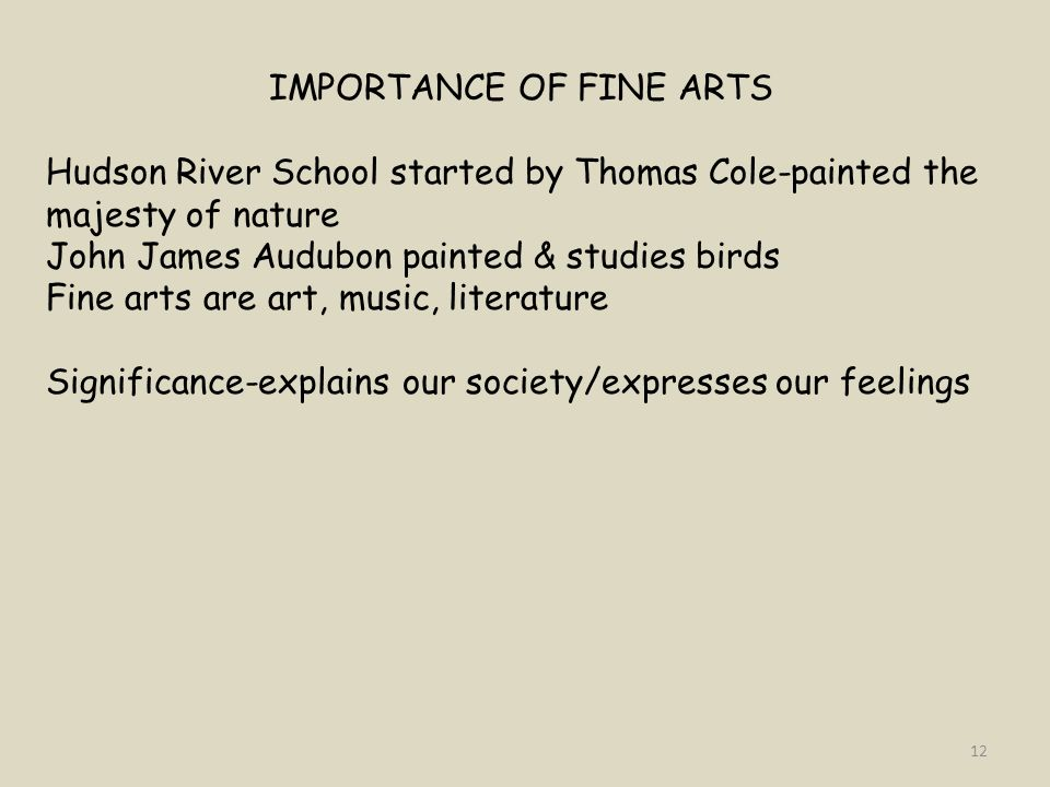IMPORTANCE OF FINE ARTS