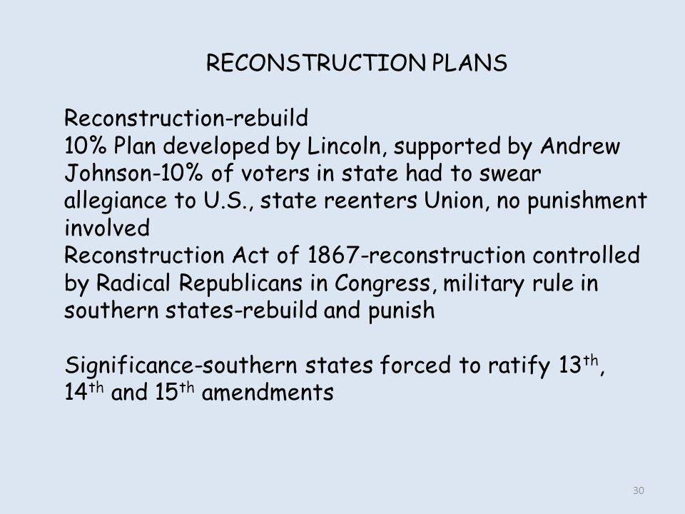RECONSTRUCTION PLANS Reconstruction-rebuild.