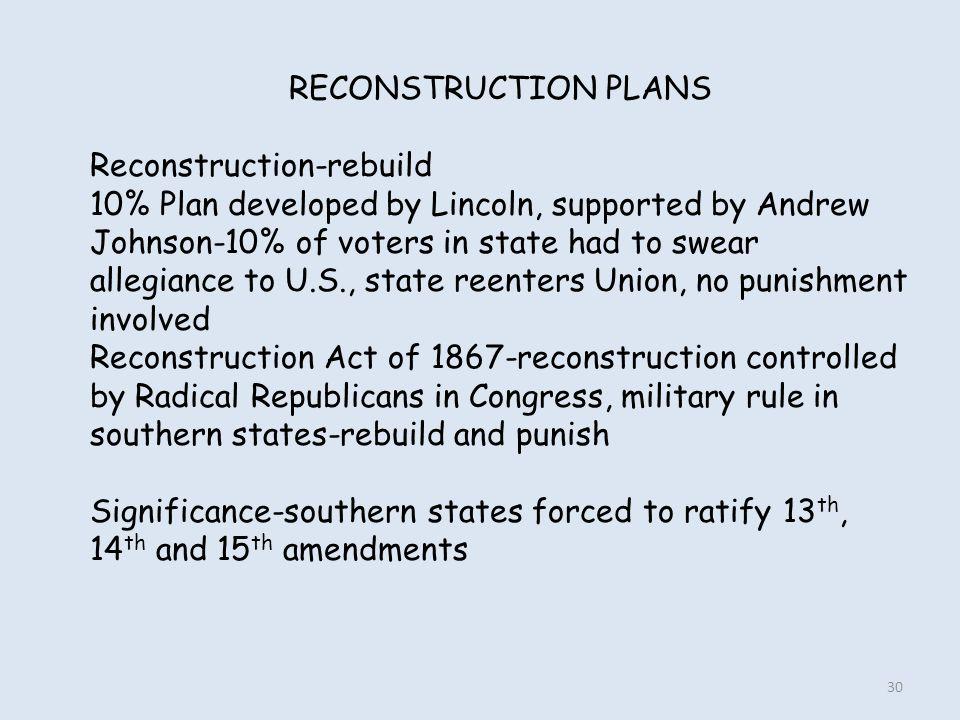 RECONSTRUCTION PLANS Reconstruction-rebuild.