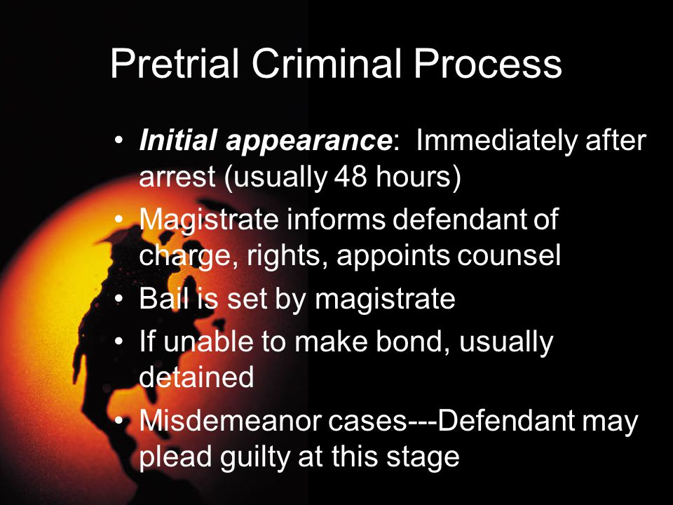Pretrial Criminal Process