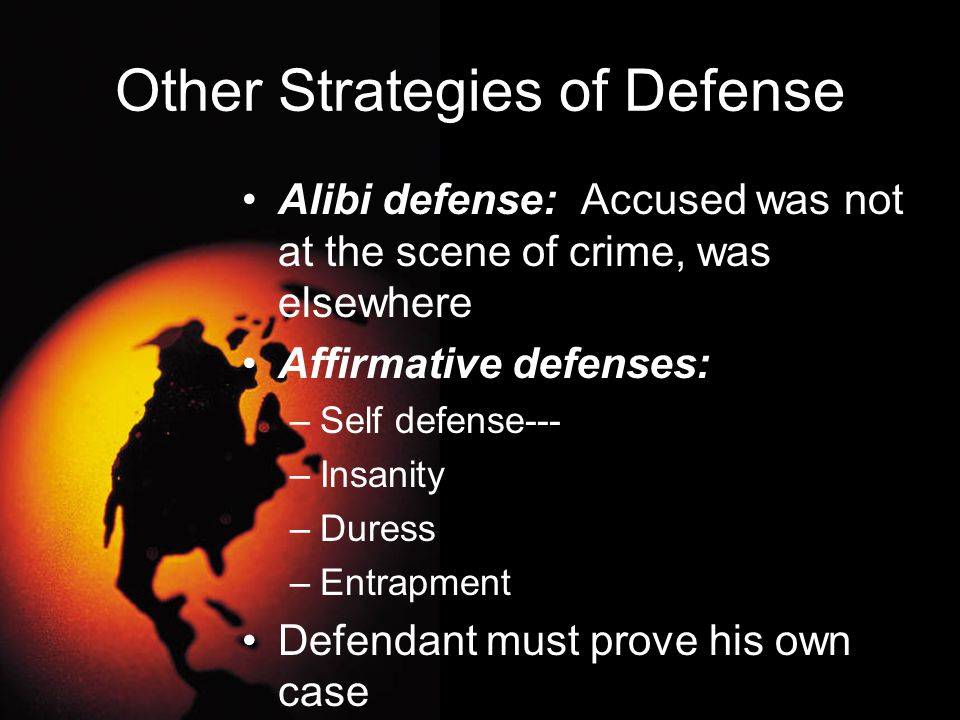 Other Strategies of Defense