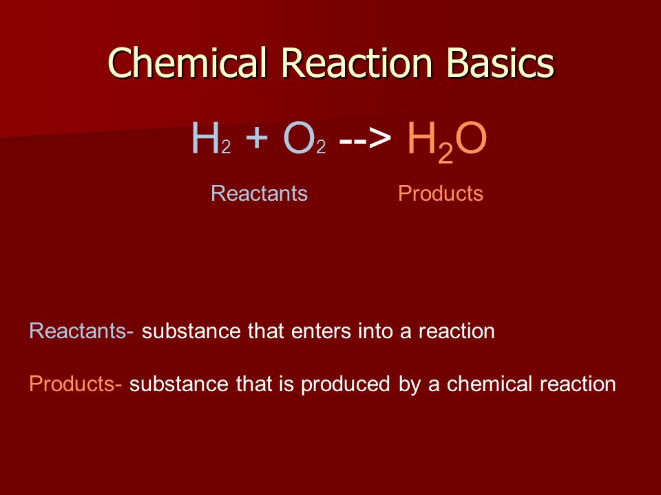 Chemical Reaction Basics
