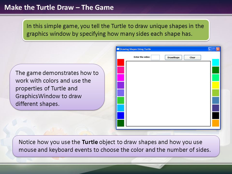 Make the Turtle Draw – The Game