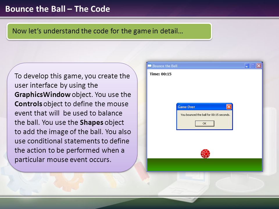 Bounce the Ball – The Code