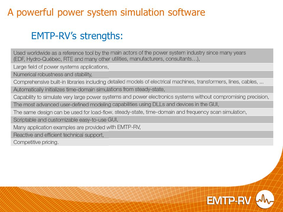 A powerful power system simulation software