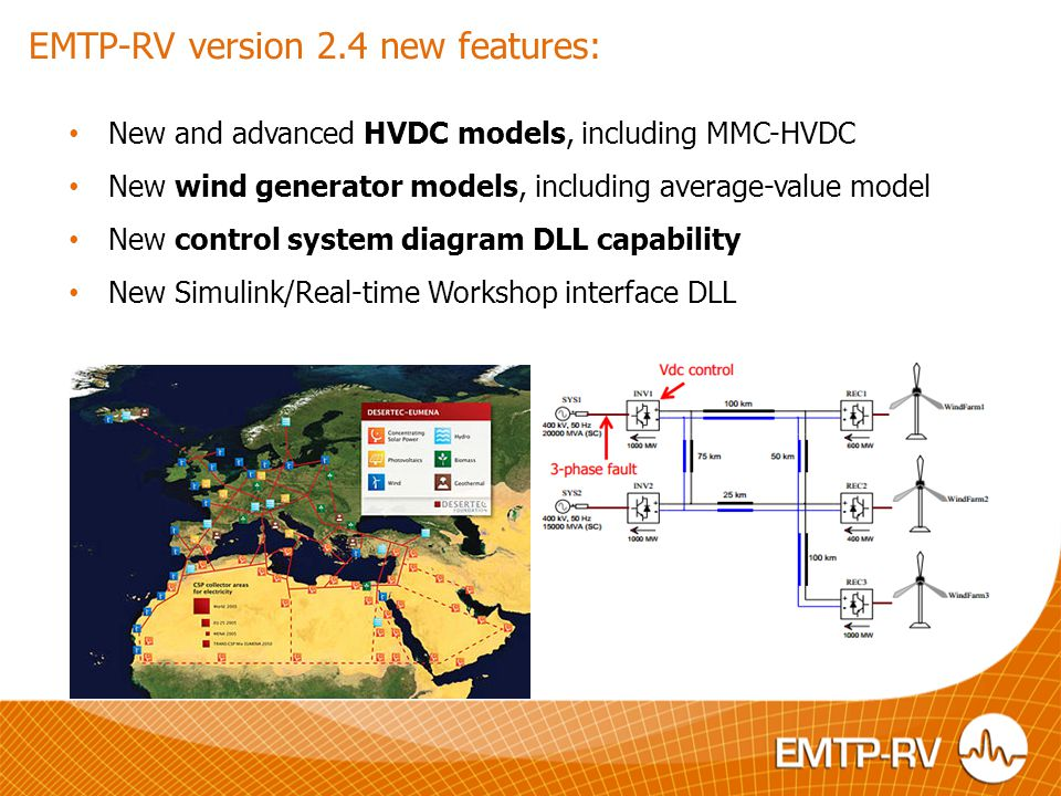 EMTP-RV version 2.4 new features: