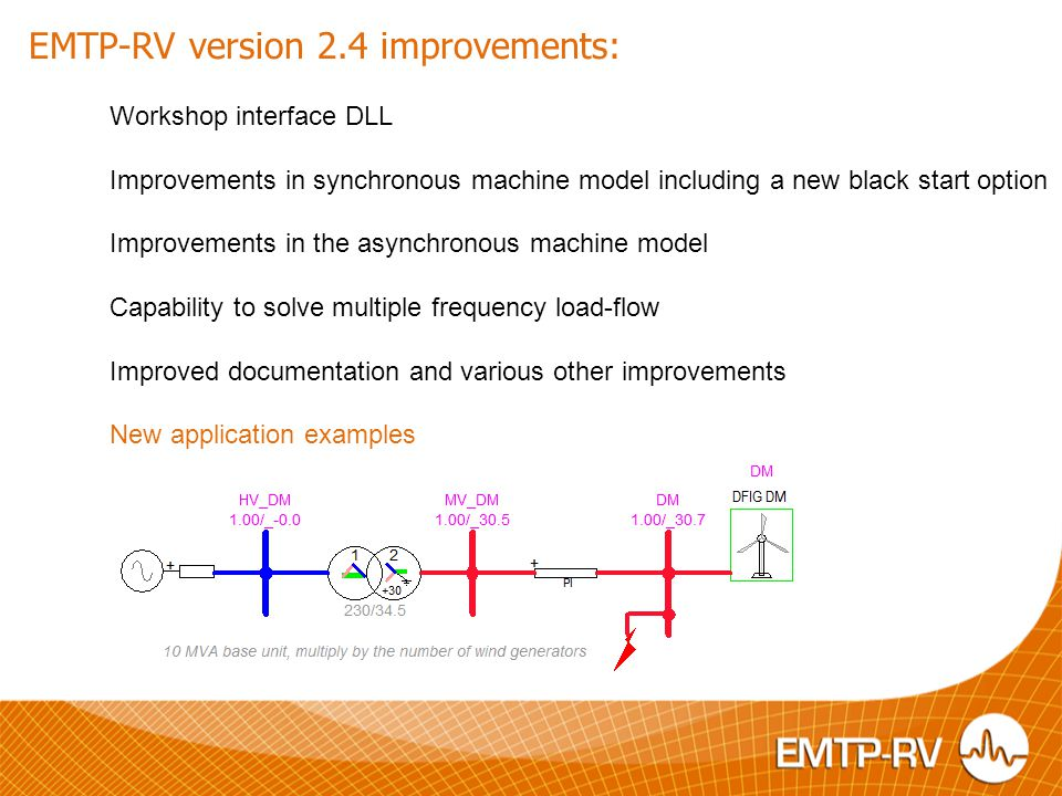 EMTP-RV version 2.4 improvements:
