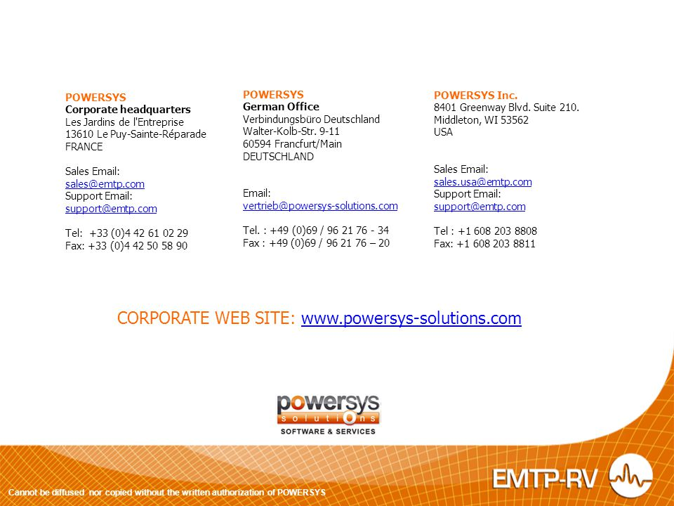 CORPORATE WEB SITE: www.powersys-solutions.com