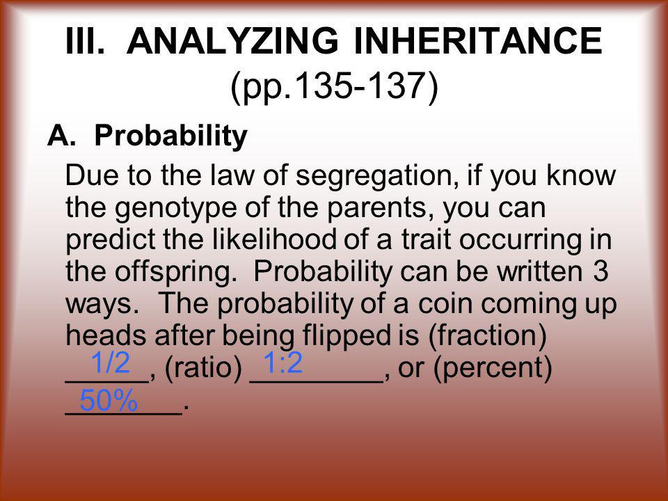 III. ANALYZING INHERITANCE (pp.135-137)