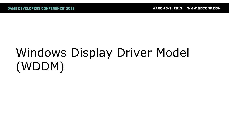 Windows Display Driver Model (WDDM)