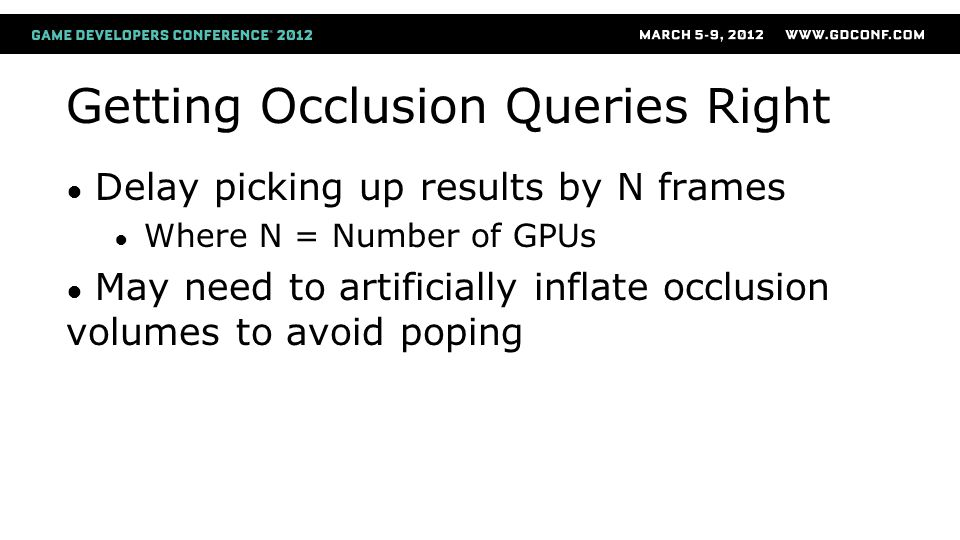 Getting Occlusion Queries Right