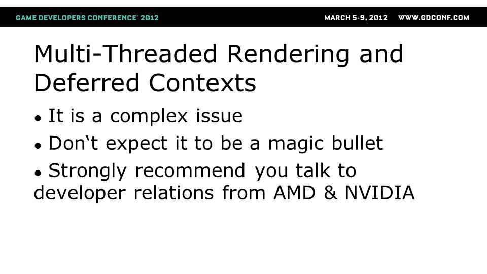 Multi-Threaded Rendering and Deferred Contexts