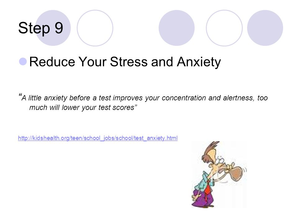 Step 9 Reduce Your Stress and Anxiety
