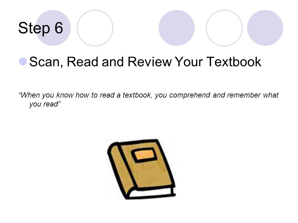 Step 6 Scan, Read and Review Your Textbook